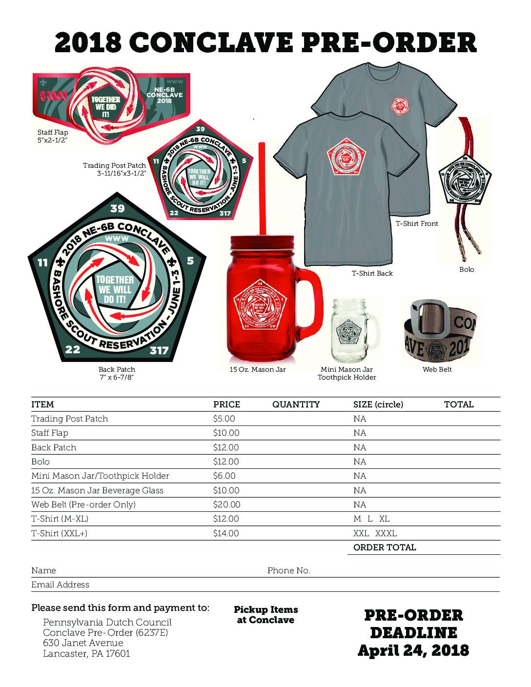 Conclave Merchandise Pre-Order Fast Approaching